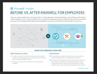 Before vs. After Maxwell For Employers